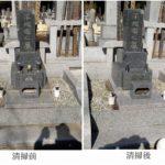 墓地の10年目無料点検とクリーニング 茨城県 水戸市
