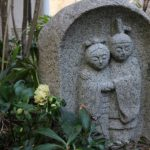 店舗の中庭に春を見つけました 水戸市 墓石