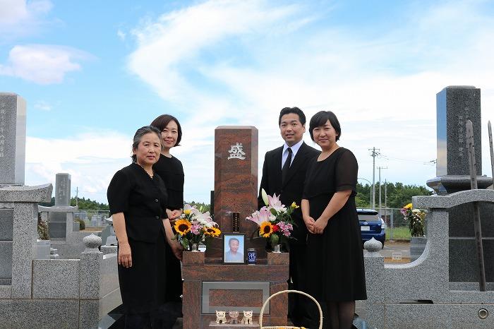 盛家のお墓の集合写真